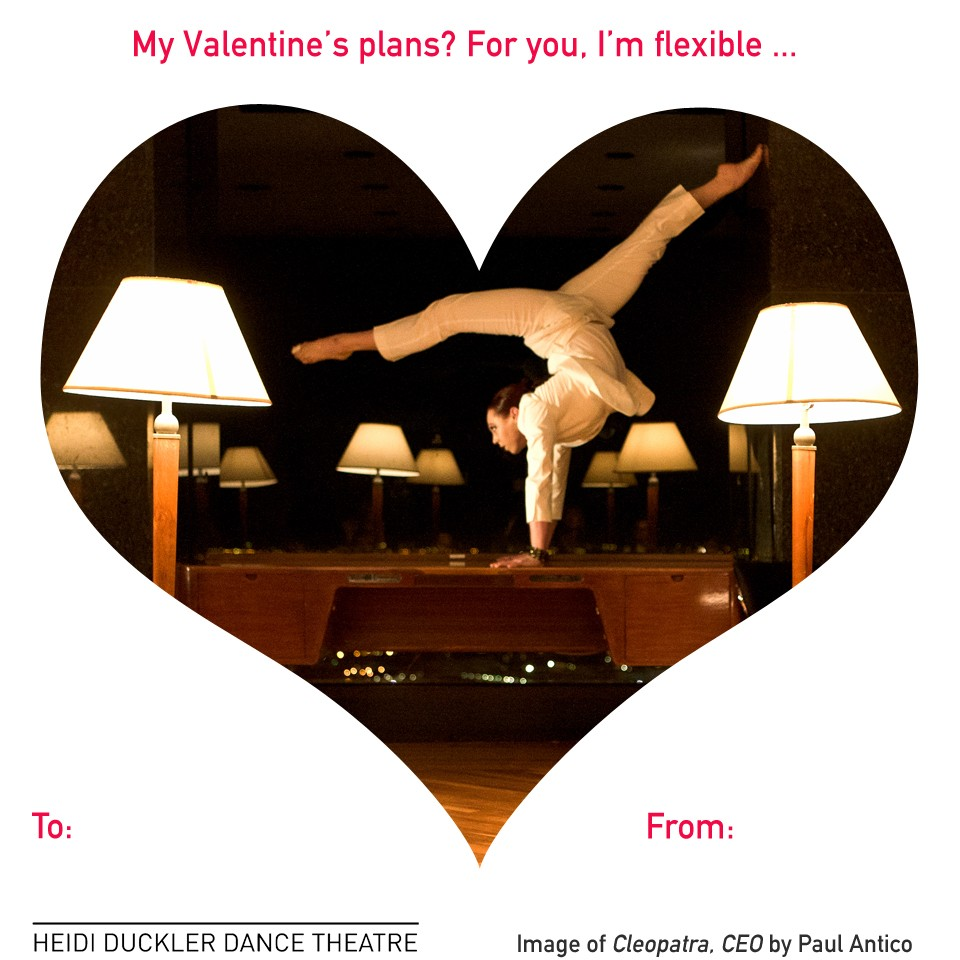 Happy Valentine's Day, from Heidi Duckler Dance Theatre