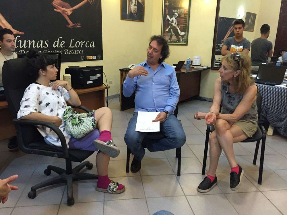 Of course, this was all in service of Heidi Duckler Dance Theatre's performance in the 'Old Havana: City in Movement' festival. Here Heidi and Toogie meet with Eugenio, the festival's director, to get approval for the historic site they've chosen as a performance location.